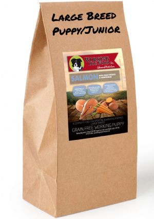 Grain Free Working Dog Food Co. Large Breed Puppy/Jnr Salmon With Sweet Potato & Veg